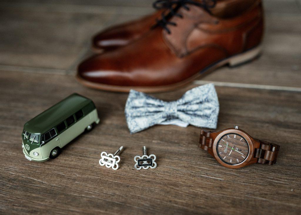 Set an Accessoires für den Bräutigam