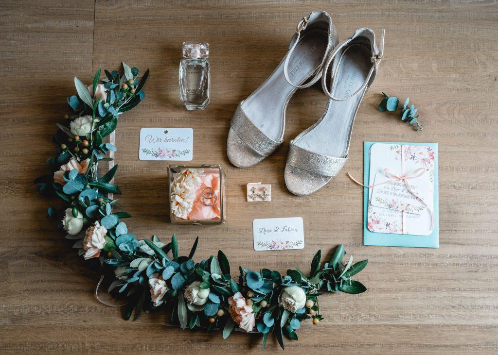 Set an Accessoires für die Braut