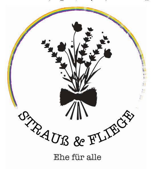 Strauß & Fliege Logo Queer Ehe für alle