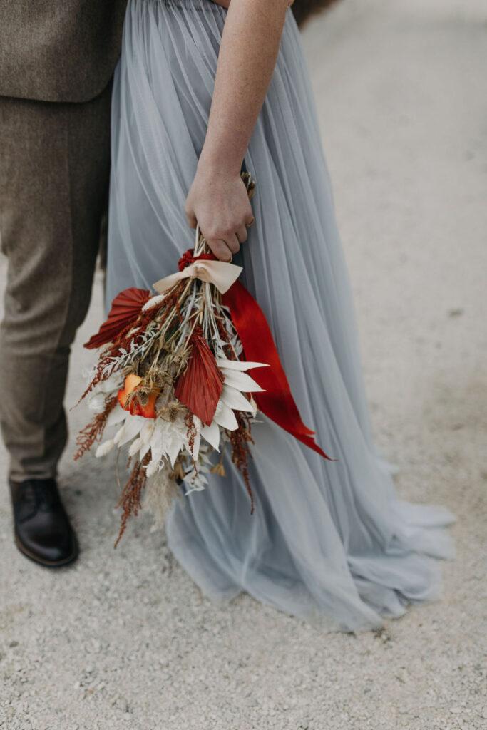 Brautstrauß   Boho Hochzeit zu zweit   Strauß & Fliege