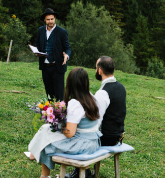 Freie Trauung Almbad Sillberghaus   Heiraten auf der Alm   Strauß & Fliege